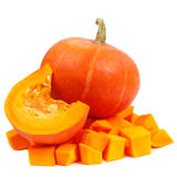Pumpkin isolated on white background. Fresh and orange pumpkins Royalty Free Stock Image