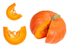 Pumpkin isolated on white background. Fresh and orange pumpkins Stock Photography