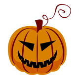Pumpkin isolated on a white. Halloween Royalty Free Stock Images