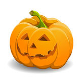 Pumpkin isolated on white. vector illustration. Royalty Free Stock Photos