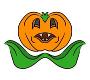 Pumpkin Jack lantern Ghost for Halloween. 2D illustration isolated on white. Pumpkin Jack lantern Ghost for Halloween. 2D illustration isolated on white royalty free illustration