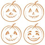 Pumpkin Jack O Lantern Royalty Free Stock Images