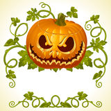 Pumpkin Jack vintage pattern Stock Photography