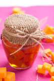 Pumpkin jam. In a jar Stock Photo