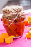 Pumpkin jam. In a jar Royalty Free Stock Photos