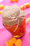 Pumpkin jam. In a jar Royalty Free Stock Images