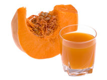 Pumpkin and juice Royalty Free Stock Image