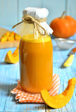 Pumpkin juice in a bottle. Stock Images