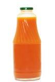 Pumpkin  juice. Bottle of pumpkin  juice  on white Stock Image