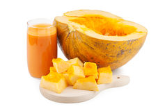 Pumpkin juice and pumpkin Royalty Free Stock Photography