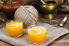 Pumpkin Juice, Smoothies. Studio Photo stock images