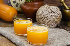 Pumpkin Juice, Smoothies. Studio Photo stock photos