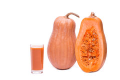 Pumpkin juice squash isolated on a white background Royalty Free Stock Photo