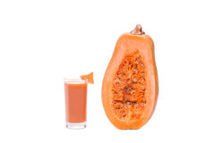 Pumpkin juice squash isolated on a white background Stock Image