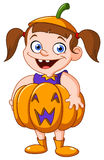 Pumpkin kid Stock Image