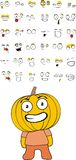 Pumpkin kid cartoon set. In vector format vector illustration