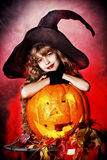 Pumpkin kid Royalty Free Stock Images