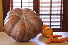 Pumpkin in the kitchen Stock Photo