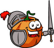 Pumpkin knight Stock Photography