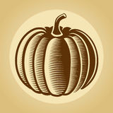 Pumpkin label in retro vintage style Royalty Free Stock Photo