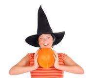 Pumpkin lady Royalty Free Stock Photos