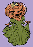 Pumpkin lady Royalty Free Stock Photo