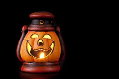 Pumpkin lantern with candle Royalty Free Stock Photography