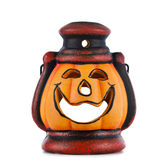 Pumpkin lantern with candle Stock Image