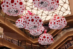 Free Pumpkin Lanterns By Yayoi Kusama Hang From The Ceiling To Celebrate The Opening Of Tokyo`s Ginzasix Shopping Complex. Stock Photo - 92159960