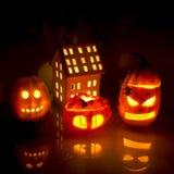 Pumpkin lanterns Stock Photos