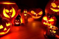 Pumpkin lanters - symbols of Halloween Royalty Free Stock Photo