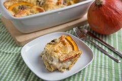 Pumpkin Lasagna Stock Photo
