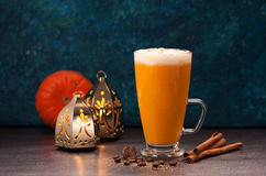 pumpkin latte smoothies Stock Photo