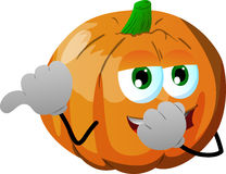 Pumpkin laughing and pointing Royalty Free Stock Images