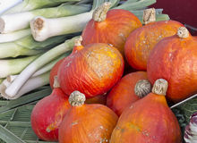 Pumpkin and leeks Stock Photography