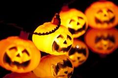 Pumpkin Lights Reflection Stock Image