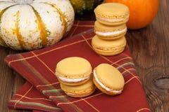 Pumpkin Macaroons Stock Image