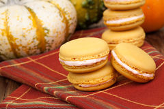 Pumpkin Macaroons Stock Images