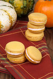 Pumpkin Macaroons Stock Photos