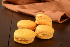 Pumpkin macaroons Stock Photography