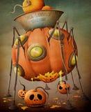 Pumpkin machine Stock Photo