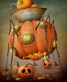 Pumpkin machine Stock Photo
