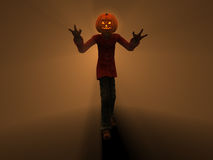 Pumpkin Man Royalty Free Stock Photography