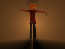 Pumpkin Man. 3d illustration of pumpkin man Halloween character Stock Photos