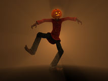 Pumpkin Man Royalty Free Stock Photo