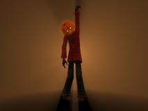 Pumpkin Man. 3d illustration of pumpkin man Halloween character Royalty Free Stock Photo