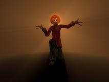 Pumpkin Man. 3d illustration of pumpkin man Halloween character Stock Photography