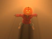 Pumpkin Man. 3d illustration of pumpkin man Halloween character Royalty Free Stock Images