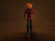 Pumpkin Man. 3d illustration of pumpkin man Halloween character Royalty Free Stock Photography