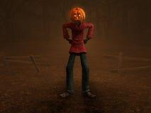 Pumpkin Man. 3d illustration of pumpkin man Halloween character Stock Photo
